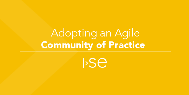 Adopting an Agile Community of Practice