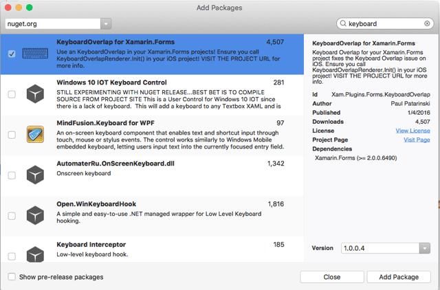 KeyboardOverlap Package