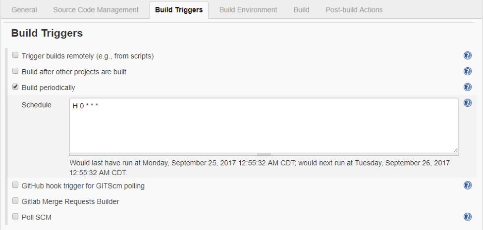 Build Triggers
