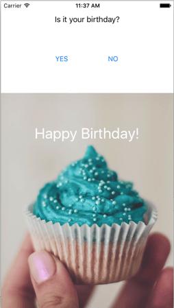 Happy Birthday App