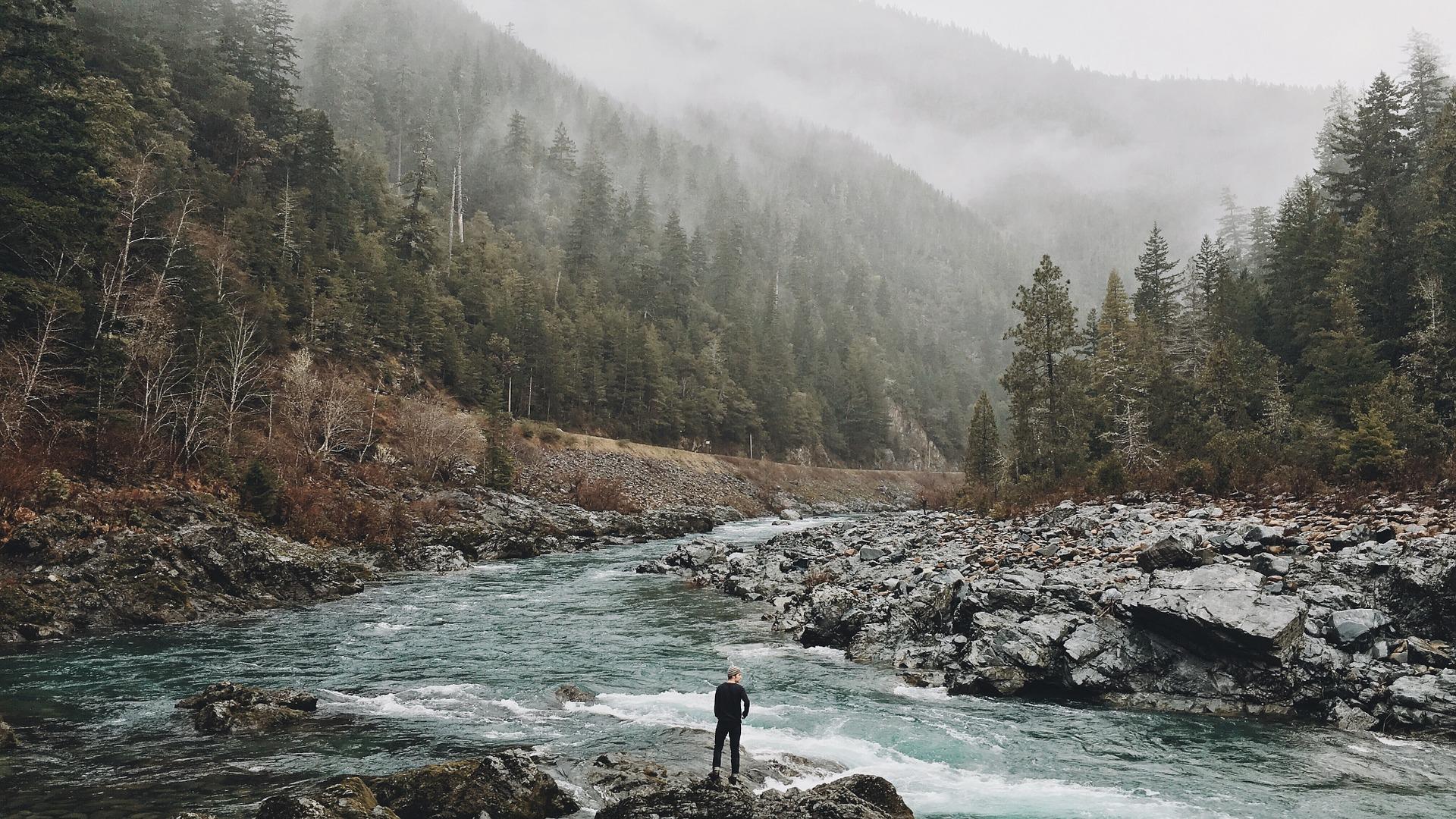 Man in River