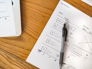 Mobile App Sketch Wireframe