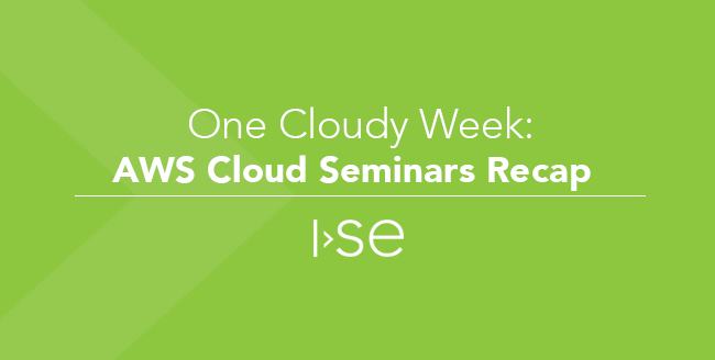 One Cloudy Week: AWS Cloud Seminars Recap