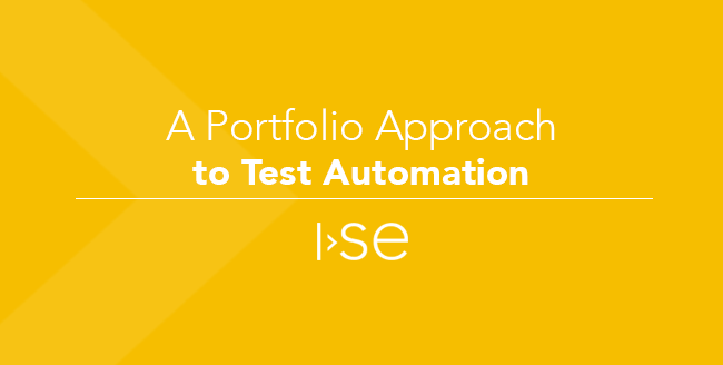 A Portfolio Approach to Test Automation