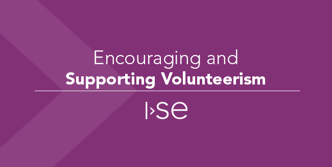 Encouraging and Supporting Volunteerism