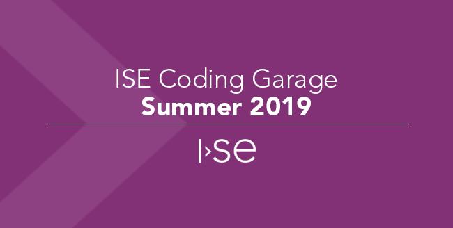 ISE Coding Garage - Summer 2019