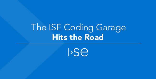 The ISE Coding Garage Hits the Road