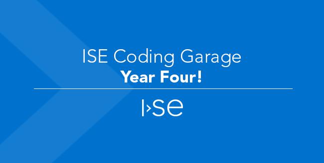ISE Coding Garage - Year Four!