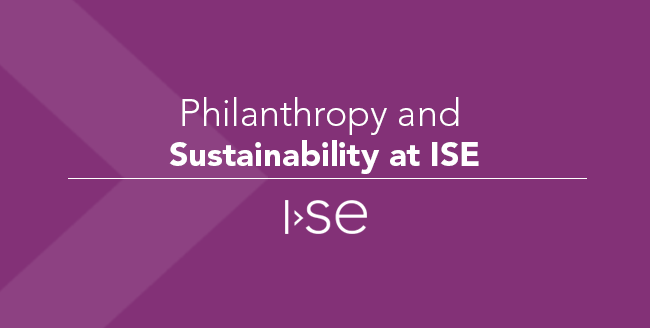 Philanthropy and Sustainability at ISE