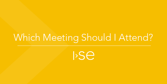 Which Meeting Should I Attend?